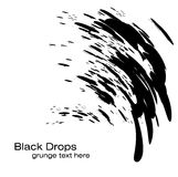 Black Drops background Stock Images