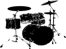Black Drum Set Royalty Free Stock Photo