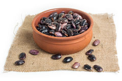 Black dry beans Royalty Free Stock Photos