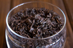 Black dry tea leaves Stock Image