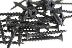 Black drywall screws Stock Photo