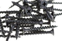 Black drywall screws Stock Photo