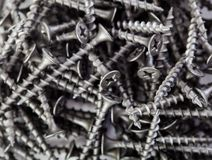 Black drywall screws Stock Photos