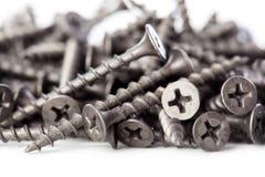 Black drywall screws Stock Photography