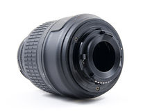 Black dslr lens mount Royalty Free Stock Image