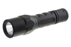 A black Dual Output LED Flashlight Royalty Free Stock Images