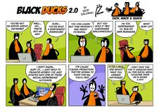 Black Ducks Cartoon Comic Strip 2 episode 3 Royalty Free Stock Image
