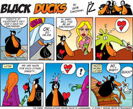 Black Ducks Comic Strip episode 39 Stock Image