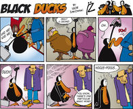 Black Ducks Comic Strip episode 5 Royalty Free Stock Photo