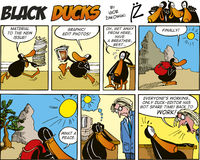 Black Ducks Comics episode 54 Stock Photography