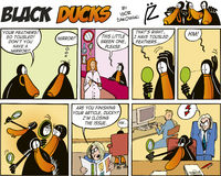 Black Ducks Comics episode 57. Black Ducks Comic Strip episode 57 Royalty Free Stock Photos