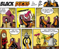 Black Ducks Comics episode 75 Royalty Free Stock Images