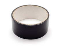 Black duct tape roll Royalty Free Stock Photos