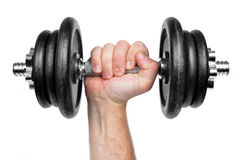 Black dumbbell Stock Image