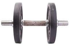 Black dumbbell. On isolated background Royalty Free Stock Photography