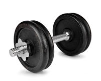 Black dumbbell Stock Photography