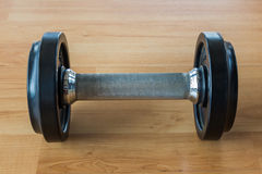 Black Dumbbell. Stock Image
