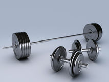 Black dumbbells for fitness Royalty Free Stock Photography