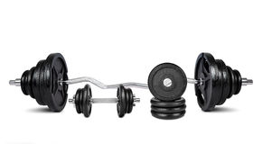 Black dumbbells Stock Photography