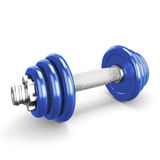 Black dumbbells on white background Royalty Free Stock Photo