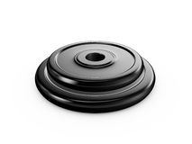 Black Dumbell Disks Royalty Free Stock Photography