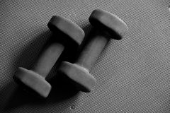 Black Dumbells Stock Image