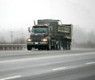 Black dump truck Royalty Free Stock Photography