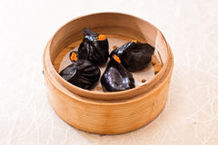 Black Dumpling. Is a kind of traditional Chinese dumpling served as dim sum Royalty Free Stock Image