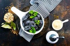 Black Dumplings Stock Photography
