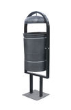 Black dustbin Royalty Free Stock Photo