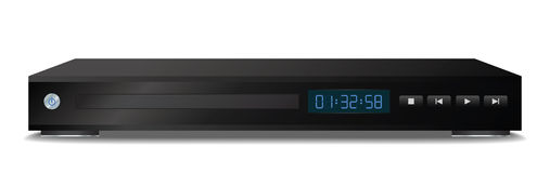 Black dvd player Royalty Free Stock Photography