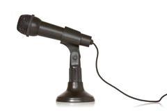 Black dynamic microphone Stock Photo