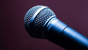 Black Dynamic Microphone Royalty Free Stock Photo