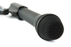 Black dynamic stage microphone Royalty Free Stock Photos