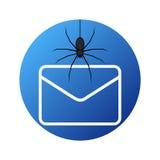 Black E mail virus attack, internet trojan detected Royalty Free Stock Images
