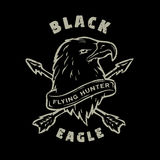 Black Eagle. Hand drawn emblem. Royalty Free Stock Photo
