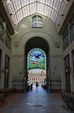 Black Eagle palace interior in Oradea, Romania stock images