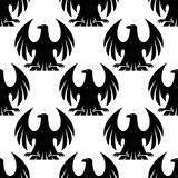 Black eagle seamless pattern Stock Images