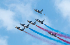 Black Eagles aerobatic display team, Singapore Airshow 2016 Stock Photography