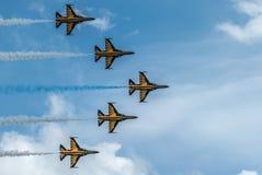 Black Eagles aerobatic display team, Singapore Airshow 2016 Stock Photo