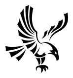 Black eagles isolated on white background for mascot or emblem d Royalty Free Stock Images