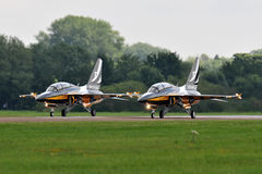 Black eagles T-50 Royalty Free Stock Image