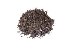 Black Earl Grey tea isolated on white, top view Stock Photography