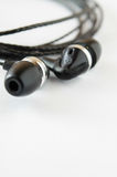 Black earphone Stock Photos