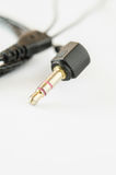 Black earphone Royalty Free Stock Image