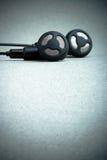 Black earphones Royalty Free Stock Image