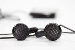 Black earphones Royalty Free Stock Photo