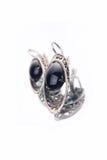 Black earrings Royalty Free Stock Photo