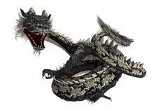 Black Eastern Dragon Royalty Free Stock Photo