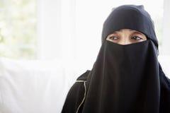 black eastern middle portrait wearing woman στοκ εικόνα με δικαίωμα ελεύθερης χρήσης